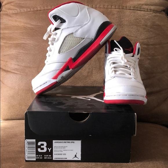 23f81e548fd Jordan Shoes | Retro 5 Fire Red Black Tongue Air | Poshmark